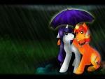 Romance under the rain