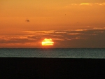 Sunrise over Great Yarmouth Beach