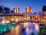floating restaurant in royal mirage resort dubai