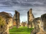 beautiful ancient ruins hdr