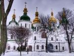 saint sophia cathedral in kiev in winter