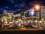 hard rock hotel in san diego at night hdr