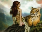 Girl and Tiger