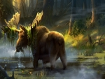 Moose In The Swamp