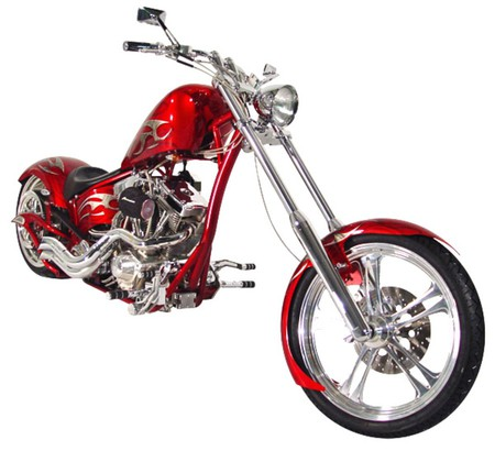 Costom Chopper  - red, bike, chopper