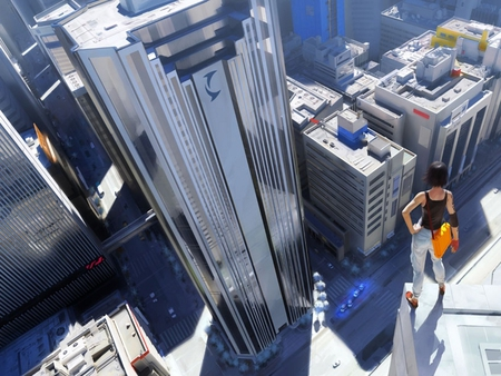 Faith's City Scape View - high rise, cool chick, pc game, mirror, edge