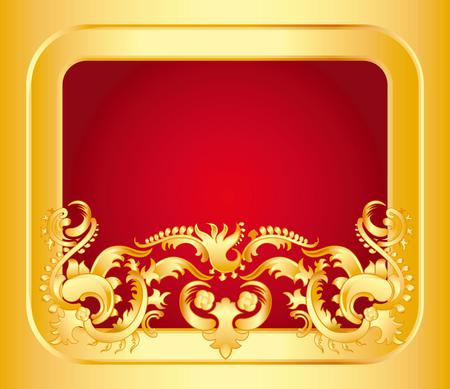 red and gold 3d and cg abstract background wallpapers on desktop