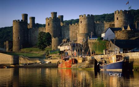 The best of the best of Bing - Castle - windows7theme, castle, lake, bing