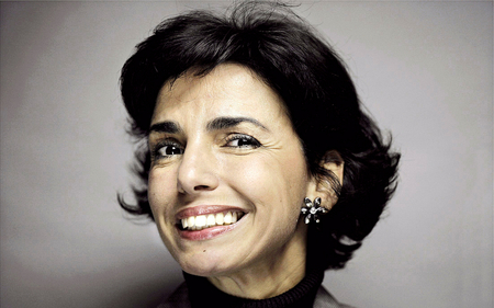 The nice teeth of Rachida Dati - pretty, female, minister, paris, politic, woman, politique skz, sarkozy, france, rachida dati, popular, bling bling