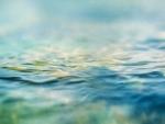 Blue green sea water