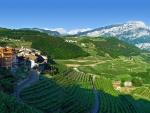 small mountainside village