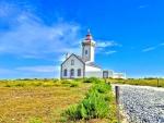 lovely white lighthouse hdr