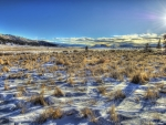 snow and sage sunrise hdr