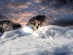 snow drifts hdr