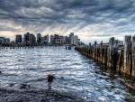 city bay view hdr