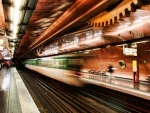 paris subway train in motion hdr