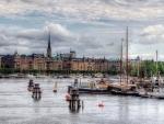 stockholm harbor hdr