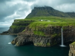 Waterfall on Faroe Island