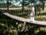 Tatiana Mercalova on a Bridge