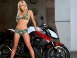 Tasha Reign and a Kawasaki