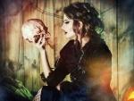 vampire with a skull