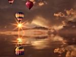 Balloons on the Night Sky