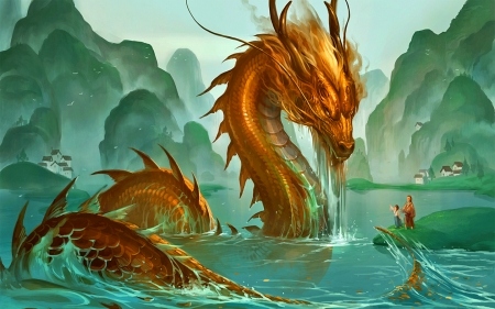 Lord of the River - magic, fantasy, dragon, eastern