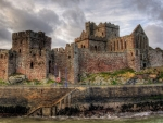 superb stone castle hdr
