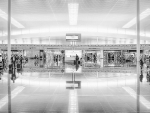 barcelona airport in grayscale hdr