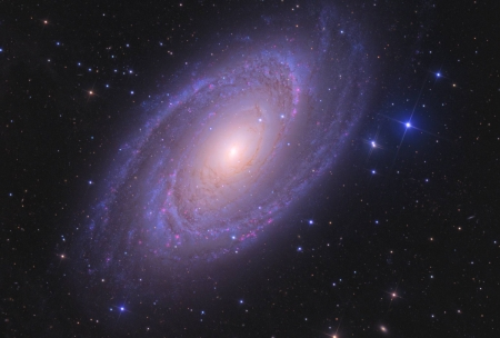 Bright Spiral Galaxy M81 - stars, fun, cool, galaxy, space