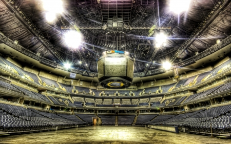 the fedex forum in memphis home of the grizzlies hdr - court, basketball, empty, seats, hdr, aren