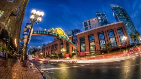 The Gaslamp Quarter San Diego Hdr Other Architecture Background Wallpapers On Desktop Nexus Image 2033767