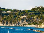 Houses on cliff Forio Italy
