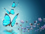 *blue butterflies*