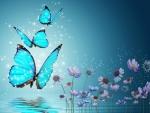 *blue butterflies*