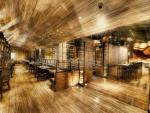 gorgeous modern wooden restaurant hdr