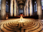 fabulous floor in a church hdr