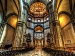 inside of basilica di santa maria del fiore in florence hdr