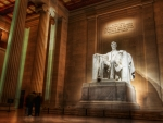 the lincoln memorial at night hdr
