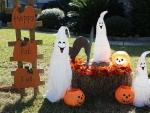 Halloween garden decor