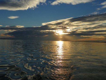 lake ontario - fall, sunset, lake ontario, water