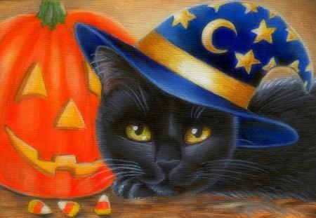 Halloween Black Cat Cats Animals Background Wallpapers On Desktop Nexus Image 2035097