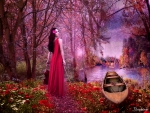 Enchanted Lady in Red