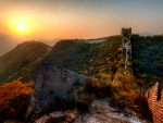 abandoned section of the great wall hdr