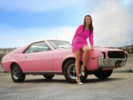 Playboy's 1968 Playmate of the Year Was Given the Keys to This Pink 1968 AMC AMX