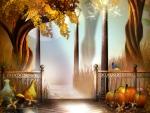 Mystical Autumn Path