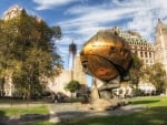 the sphere at battery park new york city hdr