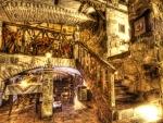 ukrainian underground stone restaurant hdr