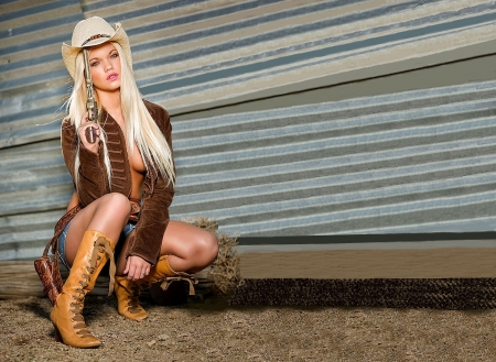 Where's Jake? - female, models, hats, boots, holsters, fun, women, guns, NRA, cowgirls, girls, fashion, blondes, western, style