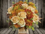 *Beautiful autumn floral arrangement*